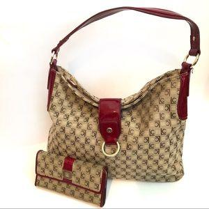 Liz Claiborne signature bag and wallet